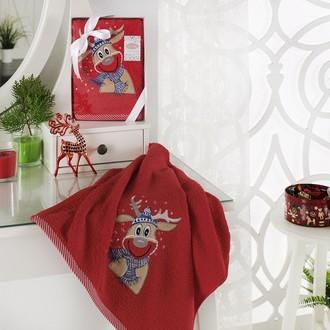 Полотенце в подарочной упаковке Karna NOEL 50*90 хлопковая махра (V3)