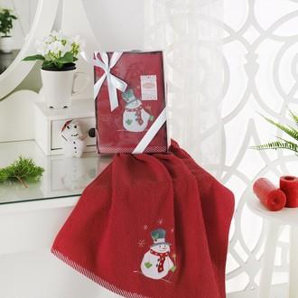 Полотенце в подарочной упаковке Karna NOEL 50*90 хлопковая махра (V4)