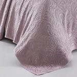 Махровая простынь-покрывало для укрывания Karna ESRA хлопок грязно-розовый 200х220, фото, фотография