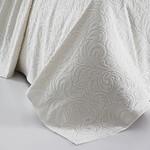 Махровая простынь-покрывало для укрывания Karna ESRA хлопок кремовый 160х220, фото, фотография