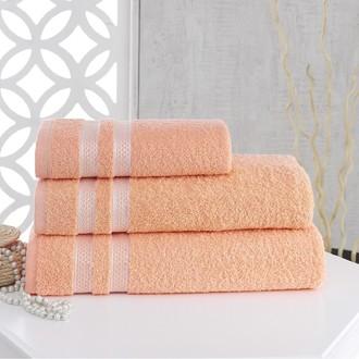 Полотенце для ванной Karna PETEK хлопковая махра абрикосовый 100*150