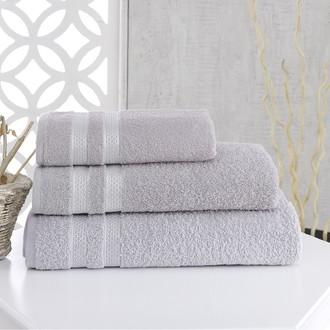 Полотенце для ванной Karna PETEK хлопковая махра (серый)
