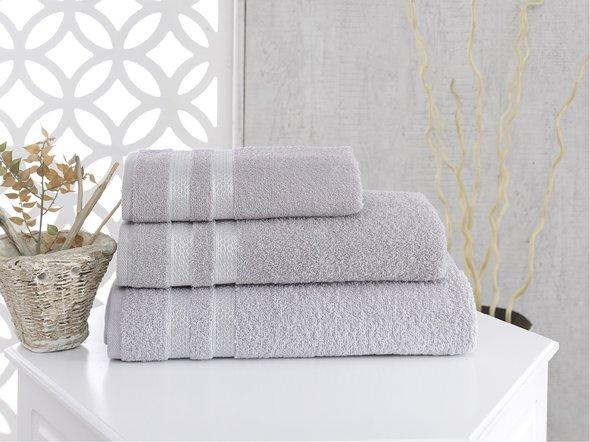 Полотенце для ванной Karna PETEK хлопковая махра (серый) 100*150, фото, фотография