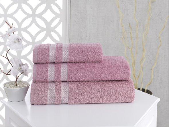 Полотенце для ванной Karna PETEK хлопковая махра (грязно-розовый) 50*100, фото, фотография