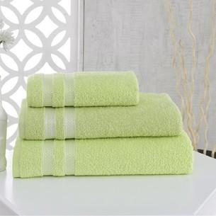 Полотенце для ванной Karna PETEK хлопковая махра зелёный 100х150