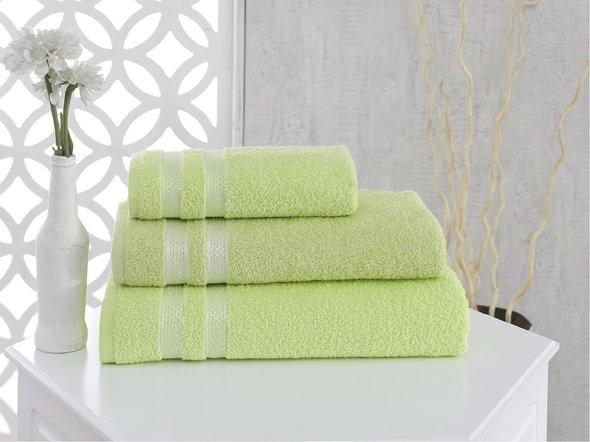 Полотенце для ванной Karna PETEK хлопковая махра (зелёный) 100*150, фото, фотография