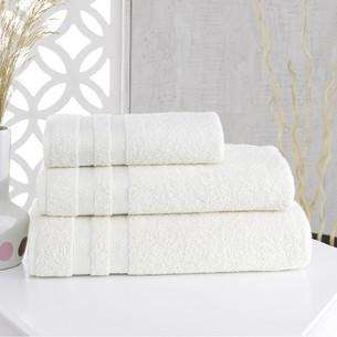 Полотенце для ванной Karna PETEK хлопковая махра кремовый 100х150