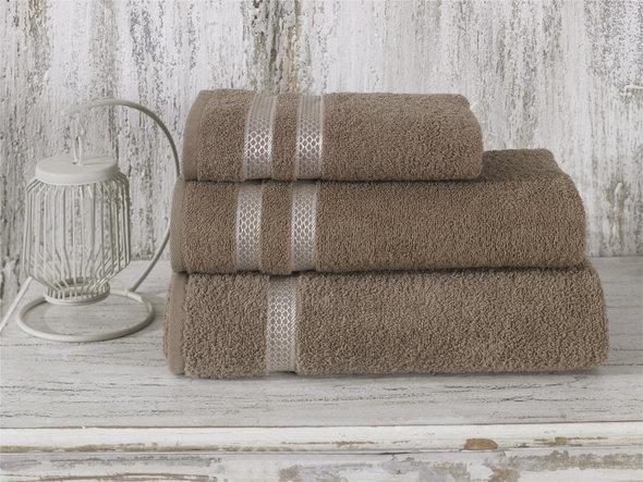 Полотенце для ванной Karna PETEK хлопковая махра (кофейный) 100*150, фото, фотография