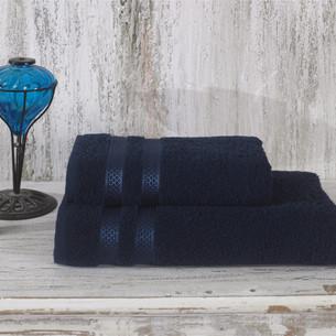 Полотенце для ванной Karna PETEK хлопковая махра синий 100х150