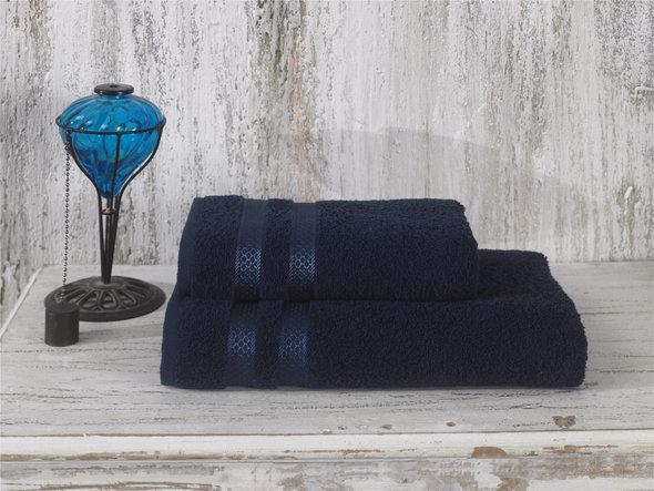 Полотенце для ванной Karna PETEK хлопковая махра (синий) 100*150, фото, фотография