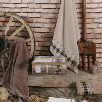 Набор полотенец для ванной Karna EKOL 4 шт. хлопковая махра (V1)
