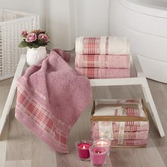 Набор полотенец для ванной Karna EKOL 4 шт. хлопковая махра (V2)