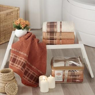 Набор полотенец для ванной Karna EKOL 4 шт. хлопковая махра (V3)