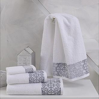 Полотенце для ванной Karna EDUSA хлопковая махра (белый)