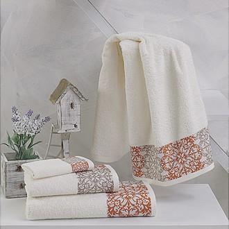 Полотенце для ванной Karna EDUSA хлопковая махра (кремовый)