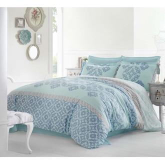 Комплект постельного белья Altinbasak ALONA сатин голубой
