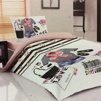 Комплект детского постельного белья Laura Bella TEEN 2 хлопковый ранфорс