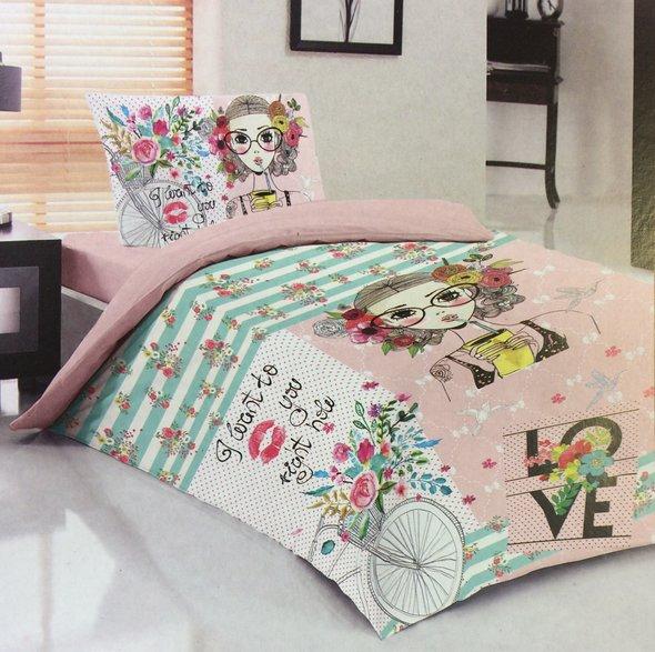 Комплект детского постельного белья Laura Bella TEEN 7 хлопковый ранфорс 1,5 спальный, фото, фотография