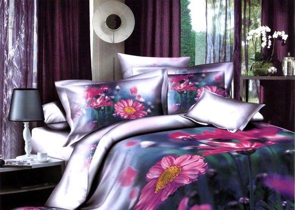 Комплект постельного белья Tango TS-166 хлопковый сатин евро (2 нав.), фото, фотография