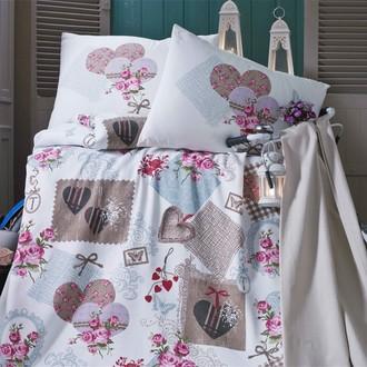 Комплект постельного белья без пододеяльника Evim 11 хлопковый ранфорс