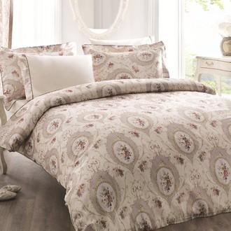 Комплект постельного белья Tivolyo Home ANGEL жатый хлопковый сатин (бежевый)