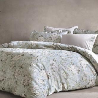 Комплект постельного белья Tivolyo Home LIGNUM жатый хлопковый сатин (синий)