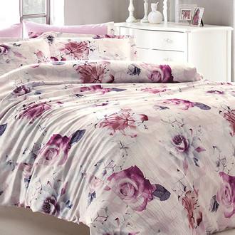 Комплект постельного белья Tivolyo Home DONNA жатый хлопковый сатин (розовый)