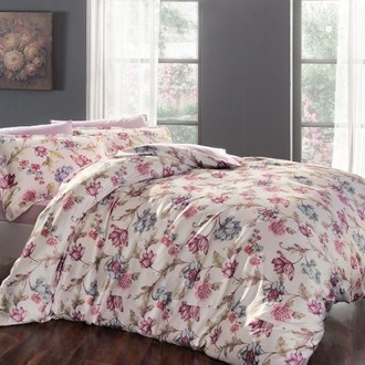 Комплект постельного белья Tivolyo Home AMBER жатый хлопковый сатин (лиловый)