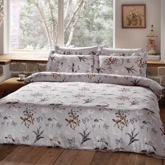 Комплект постельного белья Tivolyo Home NATURE жатый хлопковый сатин (розовый)