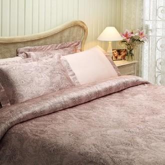 Комплект постельного белья Tivolyo Home CRISTA жатый хлопковый сатин (розовый)