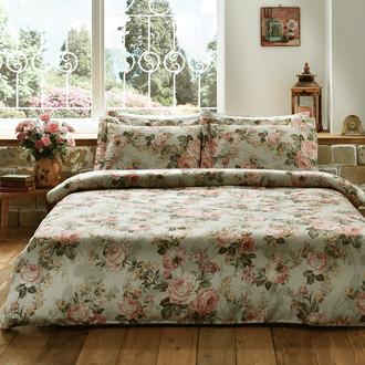 Комплект постельного белья Tivolyo Home IBENA жатый хлопковый сатин