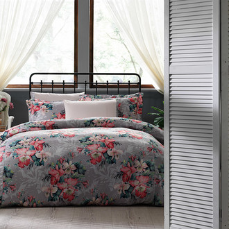 Постельное белье Tivolyo Home VITTA сатин, жатый шёлк розовый