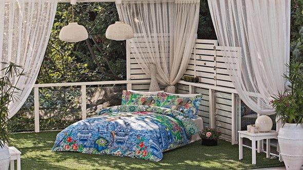 Комплект постельного белья Tivolyo Home PORCALAIN хлопковый люкс-сатин евро, фото, фотография