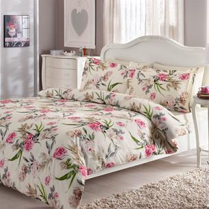 Постельное белье Tivolyo Home ALDENE хлопковый люкс-сатин 1,5 спальный