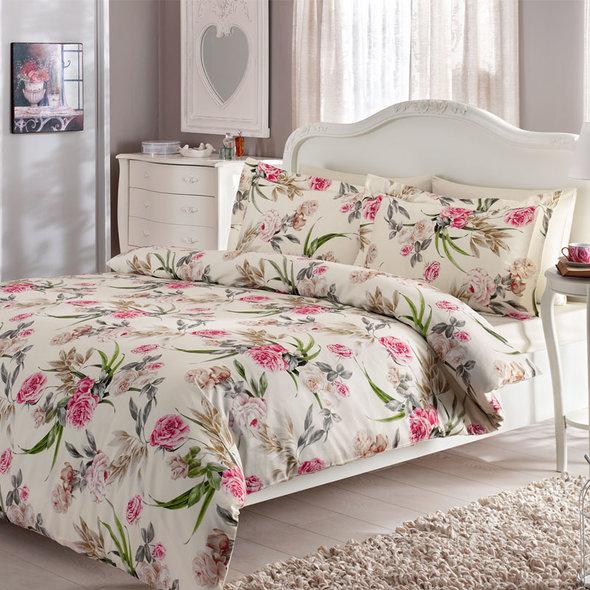Комплект постельного белья Tivolyo Home ALDENE хлопковый люкс-сатин 1,5 спальный, фото, фотография
