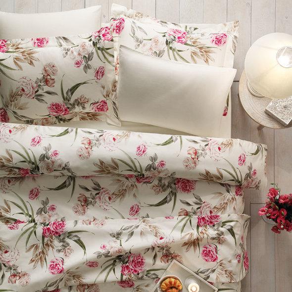 Постельное белье Tivolyo Home ALDENE хлопковый люкс-сатин евро, фото, фотография