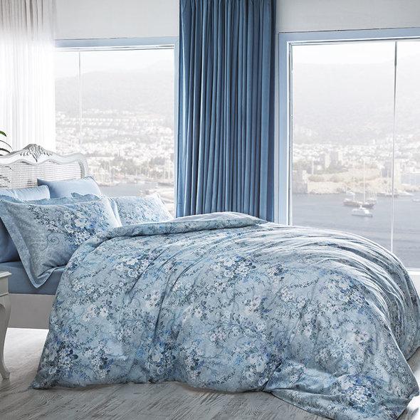 Комплект постельного белья Tivolyo Home MIRAGE хлопковый люкс-сатин евро, фото, фотография