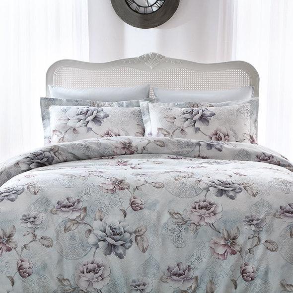 Комплект постельного белья Tivolyo Home GINEVRA хлопковый люкс-сатин 1,5 спальный, фото, фотография
