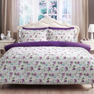 Комплект постельного белья Tivolyo Home GARDEN хлопковый люкс-сатин (лиловый)