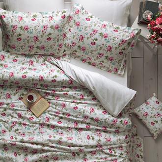 Комплект постельного белья Tivolyo Home DELUX GARDEN хлопковый люкс-сатин (розовый)