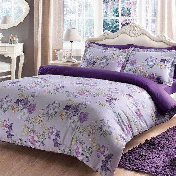 Постельное белье Tivolyo Home VIOLA хлопковый люкс-сатин 1,5 спальный, фото, фотография