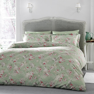 Комплект постельного белья Tivolyo Home DELUX ROSE DANTELA хлопковый люкс-сатин