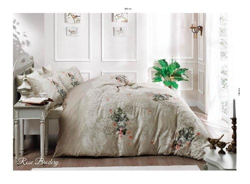 Постельное белье Tivolyo Home ROSE BRODELI хлопковый люкс-сатин 1,5 спальный, фото, фотография