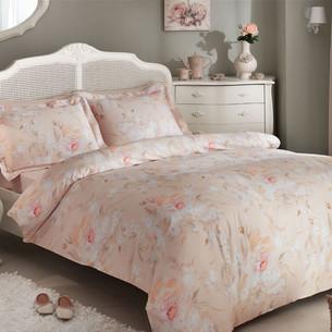 Постельное белье Tivolyo Home PERFUME хлопковый люкс-сатин розовый 1,5 спальный
