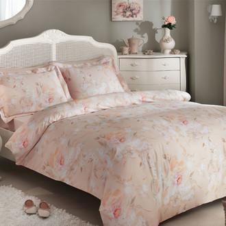 Комплект постельного белья Tivolyo Home PERFUME хлопковый люкс-сатин (розовый)