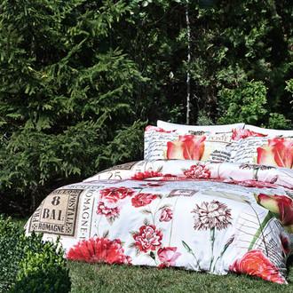 Комплект постельного белья Tivolyo Home SWEET MEMORIES хлопковый люкс-сатин