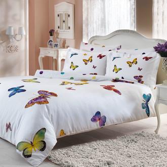 Комплект постельного белья Tivolyo Home BUTTERFLY хлопковый люкс-сатин