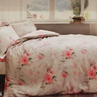 Комплект постельного белья Tivolyo Home CHERISH хлопковый люкс-сатин (розовый)