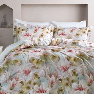 Комплект постельного белья Tivolyo Home DELUX CATERINA хлопковый люкс-сатин
