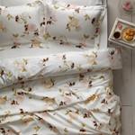 Постельное белье Tivolyo Home POEM хлопковый люкс-сатин кремовый семейный, фото, фотография